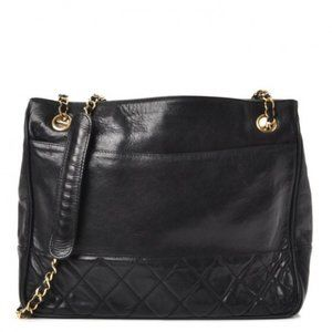 Authentic CHANEL Lambskin Quilted Shoulder Bag